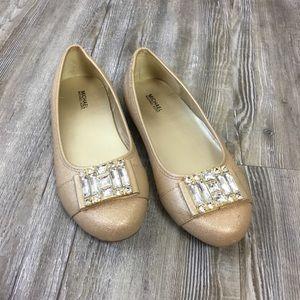 Michael Kors Rover Kendra Gold Ballet Flat SZ 4